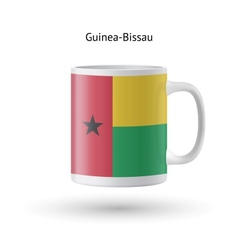 Guinea-bissau flag souvenir mug on white vector