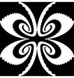 Design monochrome decorative butterfly silhouette vector