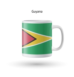 Guyana flag souvenir mug on white background vector