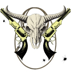 Wild west mascot vector