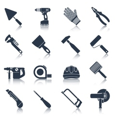 Repair construction tools black vector