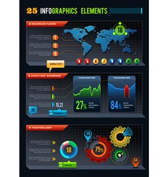 25 infographics design elements vector