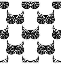 Owl bird seamless pattern vector