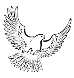 Stylized dove vector