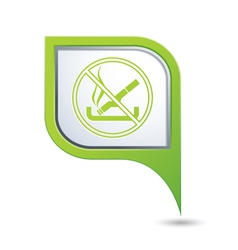 No smoking green pointer vector
