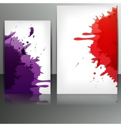 Banner with splash on abstract background vector