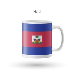 Haiti flag souvenir mug on white background vector