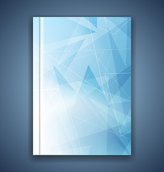 Triangular structure concept folder template vector