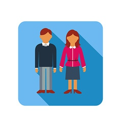 Couple on a blue background flat style vector