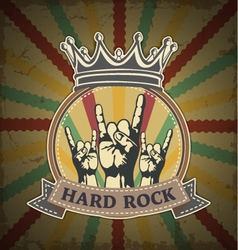Symbol of hard rock vector