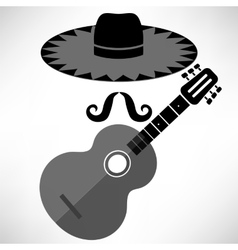 Mexican guitar vector