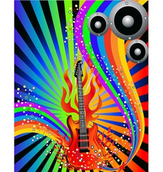 Decorative musical poster vector