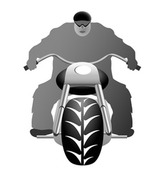 A healthy man on bike vector