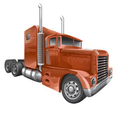 Brown truck vector