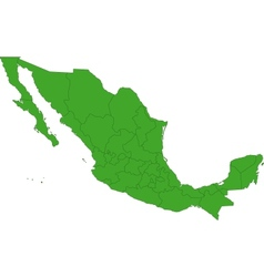 Green mexico map vector