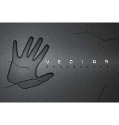 Asphalt background hand vector