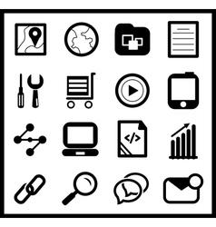 Black web icon set vector