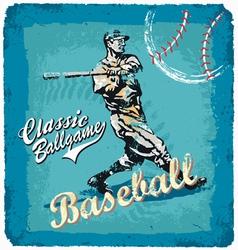 Baseball classic batter vector