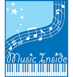 Music inside flat vector