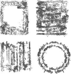 Set of grunge frame vector