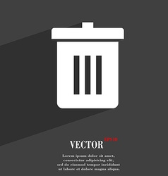Recycle bin reuse or reduce icon symbol flat vector