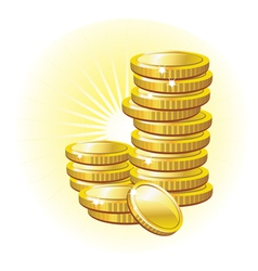 Gold coin vector