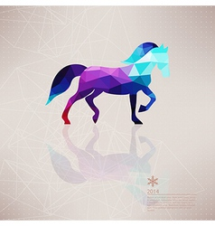 Triangle horse abstract horse of geometric shapes vector