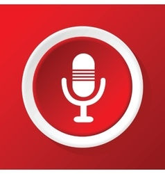 Microphone icon on red vector