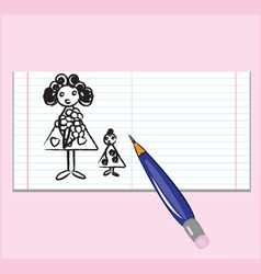 Notebook mothers day vector