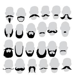Moustache and beard vector