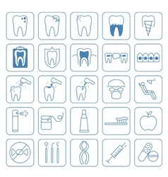 Dental icons set vector