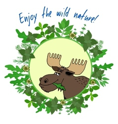Enjoy the wild nature vector