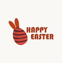 Happy easter cards with easter egg vector