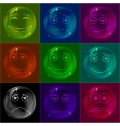 Bubbles smileys vector