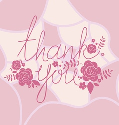 Thank you floral print vector