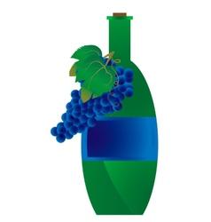 Green bottle of wine vector