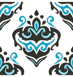 Damask seamless flourish pattern vector