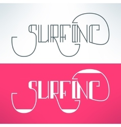 Surf vintage lettering design background vector