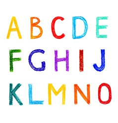 Funny set of english letterns hand drawn alphabet vector