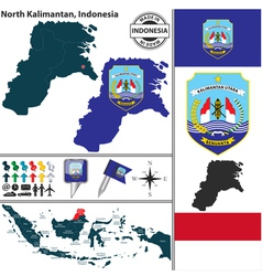 Map of north kalimantan vector