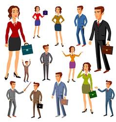 Set characters design office team man women vector