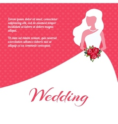 Wedding invitation or card template vector
