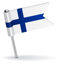 Finnish pin icon flag vector