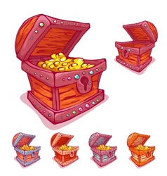 Treasure chest with and vector