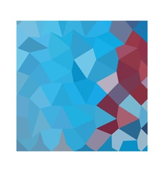 Cerulean frost blue abstract low polygon vector