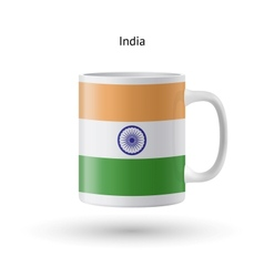 India flag souvenir mug on white background vector