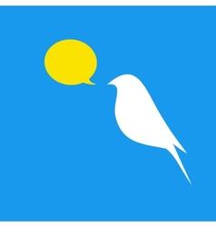 Beautiful flat silhouette of the bird vector