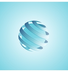 Spiral sphere abstract lines vector