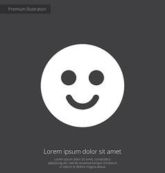Smile premium icon white on dark background vector