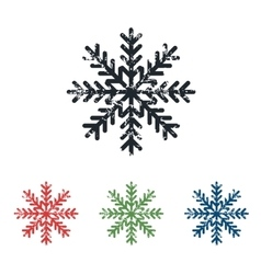 Snowflake grunge icon set vector